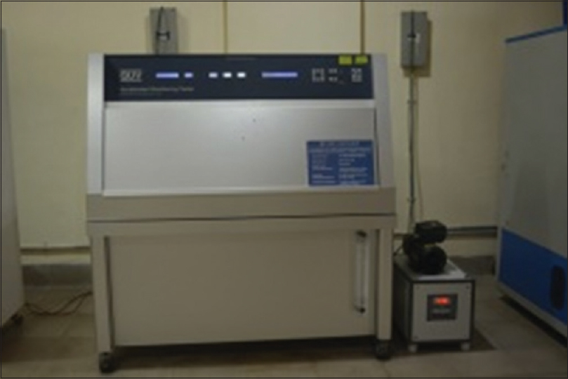 Figure 9: QUV accelerated weathering Tester (Q Labs, USA)