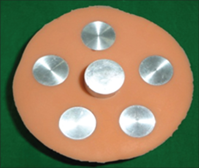 Figure 2: Silicone rubber mold for fabrication of study samples